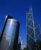 Bankbyggnad i HongKong, Kina