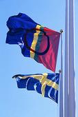 Svenska och Samiska flagga