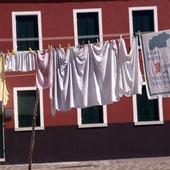 Tvätt på tork i Venedig, Italien