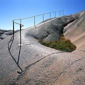 Gångstig på klippa