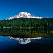 Kaskadbergen i Mount Rainier nationalpark, USA