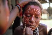 Kvinna i Papua-Nya Guinea