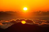 Solnedgång över Sierra Nevada, Spanien