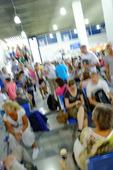 Människor på flygplats