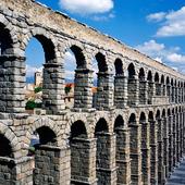 Segoviaakvedukten i Segovia, Spanien