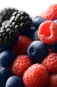Raspberries, blueberries and blackberries