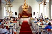Interiör Kungsbacka kyrka, Halland