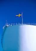 Svenska flaggan på cistern