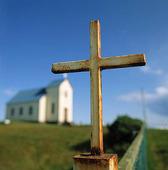 Kors vid kyrka, Island