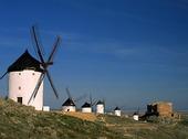 Väderkvarnar i Spanien