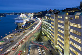 Stadsgårdskajen i Stockholm med Birka Paradise