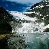 Glaciär vid Böyabreen, Norge