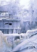 Vinterkyla i äldre industrimiljö