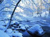 Vattendrag, vinter