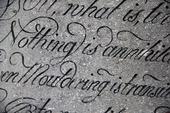 Text på gravsten