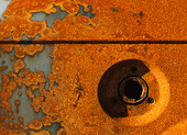 Detail of a rusty car