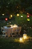 Belysning i trädgård