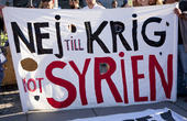 Demonstration mot krig i Syrien