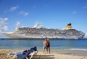Kryssningsbåten Artemis i Västindien
