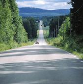 Väg med biltrafik