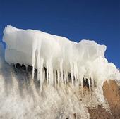 Istappar på isflak