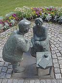 Skulptur Kungsbackagumman i Kungsbacka, Halland