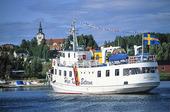 Skärgårdsbåt i Docksta, Ångermanland