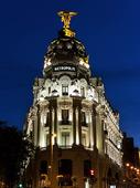 Metropolis building i Madrid, Spanien