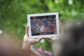 Fotografering av kungligt bröllop 2011 med en iPad