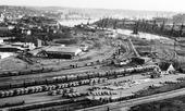 Vy över Lindholmen, Göteborg 1960-talet