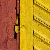 Gångjärn på gammal dörr