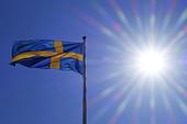 Svenska flaggan i motljus
