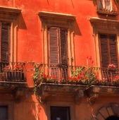 Husfasad i Rom, Italien