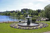 Fontän vid Edsbergs slott i Sollentuna, Stockholm