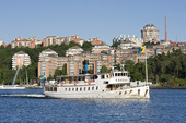 Skärgårdsbåt vid Nacka strand, Stockholm