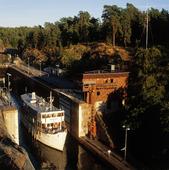 Slussen i Trollhättan, Västergötland
