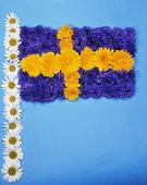 Svenska Flaggan av blommor