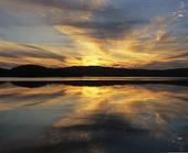 Kallsjön i solnedgång, Jämtland