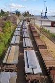 Tåg med stål från Oxelösund, Södermanland