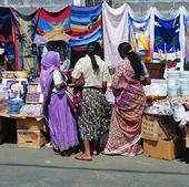 Marknad i Port Louis, Mauritius