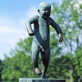 Skulptur i Vigelandsparken i Oslo, Norge