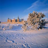 Kalmar slott i vinterlandskap, Småland