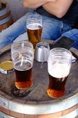 Öl på uteservering
