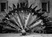 Fryst Wheel. Prag. Tjeckien