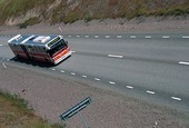 Buss på landsväg