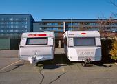 Parkerade husvagnar