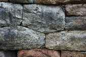 Detalj på stenmur