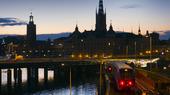 Skymning i Stockholm