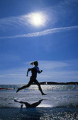 Jogging på strand