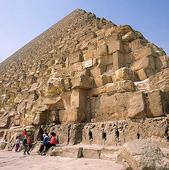 Bild på Cheops pyramiden i Giza, Egypten (NASVCV): Rights-Managed foto | Bildbyrå Pix Gallery